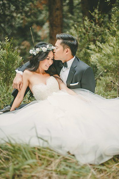 Someone call a fairy godmother — we wish for our wedding photos to look as magical as this prince and princess in their enchanted forest.Related: Enchanting Ideas for a Fairy Tale Wedding