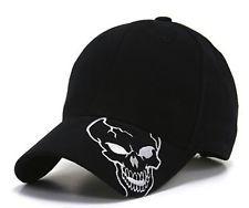 Black Skull Skeleton Bill Design Baseball Cap CAps Hat Hats Halloween Costume