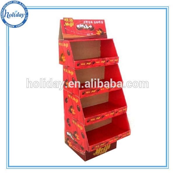 Holiday Excellent Cardboard Display Stand FSDU , Cardboard Floor Display Stand With Shelves