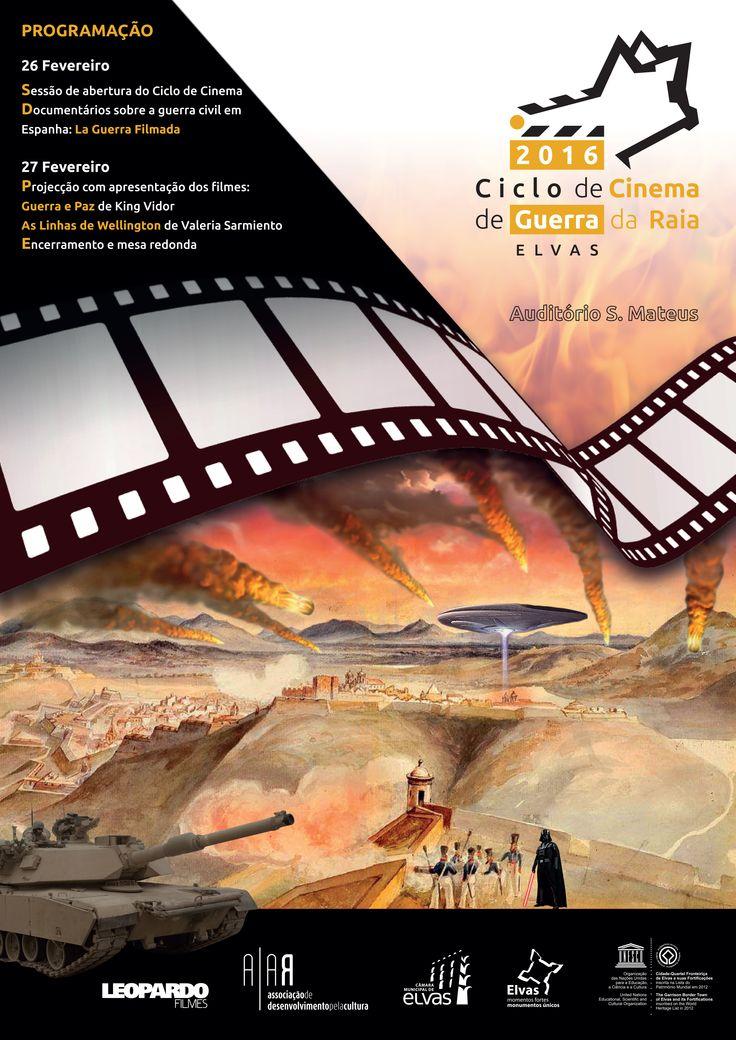 Cartaz do Ciclo de Cinema de Guerra de Elvas (AIAR)