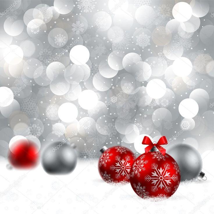 Рождественский фон с безделушками — стоковая иллюстрация #4334809
