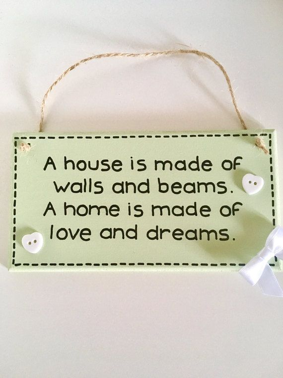 New Home Gift - New Home Plaque - New Home Quote - New Home Sign by SarahsPrettyPlaques