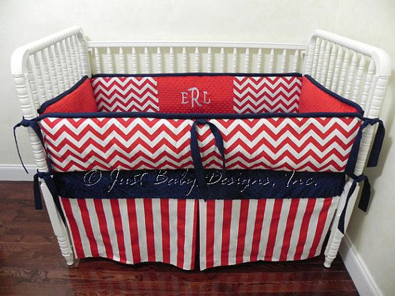 Custom Baby Boy Bedding Set Michael  Boy Crib by BabyBeddingbyJBD