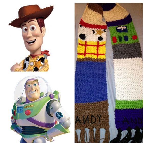 Woody & Buzz Lightyear inspired Scarf por CrafTCreation13 en Etsy