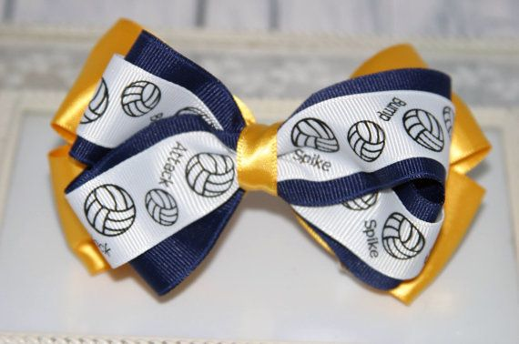 Customized Volleyball Hair Bow Volleyball by EdelweissBowtique, $7.95