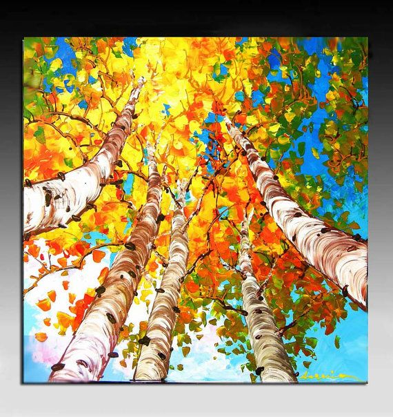 I always find myself attracting to paintings of fall
