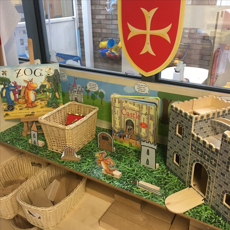 EYFS block area - can you make a castle - Zog by Julia Donaldson