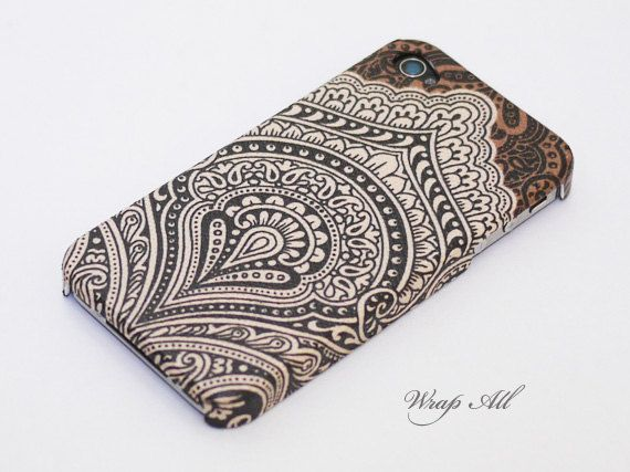 Vintage Brown Bali pattern iPhone 5 case / iPhone 5S by WrapAll, $15.90
