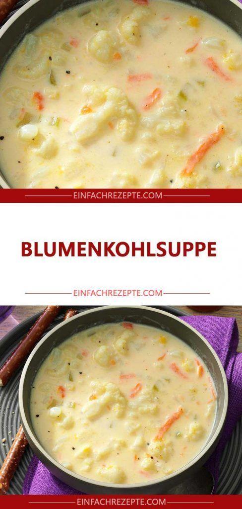Blumenkohlsuppe 😍 😍 😍   – Kochrezepte