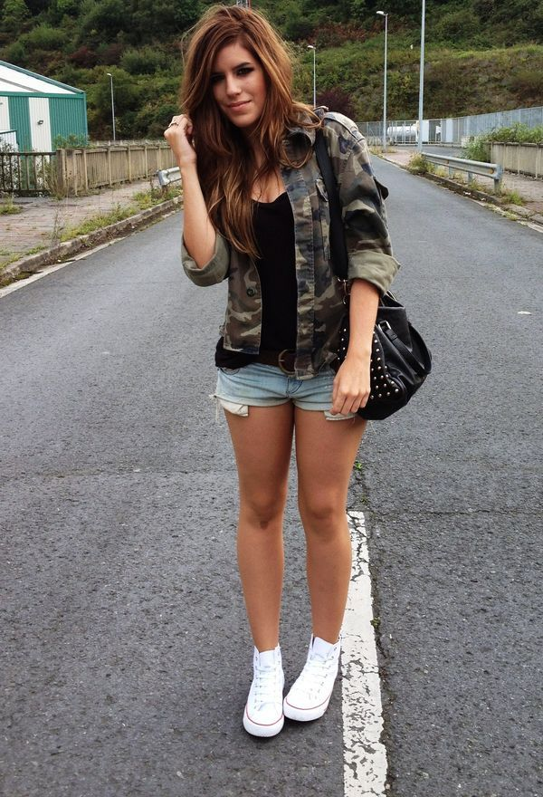 Look by @sel95 with #casual #sport #jacket #shirt #denim #deportivas #militar #blusas #jean #converse #pantalones #chic #streetstyle #camuflaje #military #shorts #tennis #camouflage #camo #love #army #look #looks.
