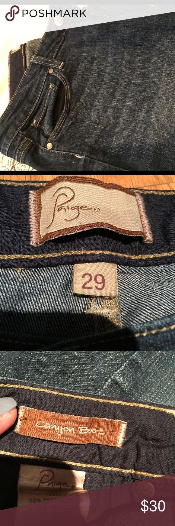 Paige Jeans 29 canyon boot Paige Jeans Canyon Boot cut size 29 medium wash excellent condition Paige Jeans Jeans Boot Cut
