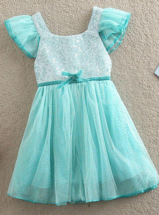 Reserved listing-Frozen Princess Elsa Dressy, Blue Sequin Short Sleeve,Girl Dress Couture Baby Dress Toddler Frozen Dress