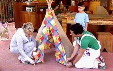 Rede Globo - Mais Você - Artesanato - NOTÍCIAS - Aprenda a fazer uma linda barraca para as crianças!