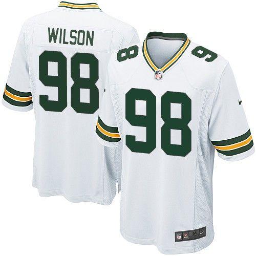 Nike Elite Green Bay Packers C.J. Wilson 98 White NFL Jersey for Sale Sale