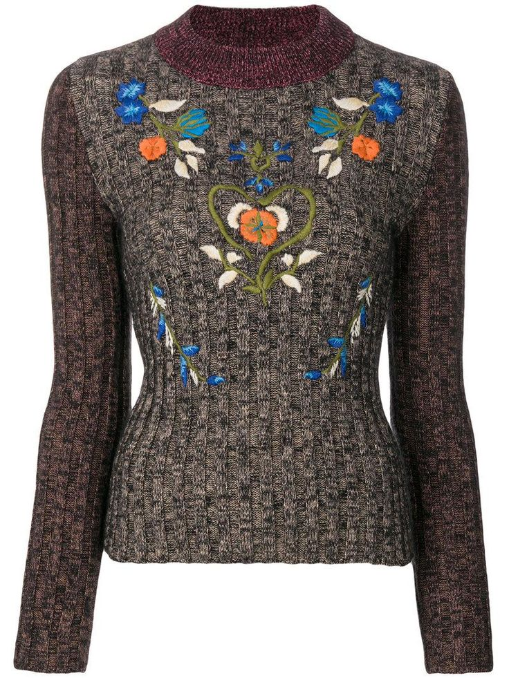 Buy RED Valentino Women's Brown Embroidered Ribbed Sweater, starting at €248. Similar products also available. SALE now on!