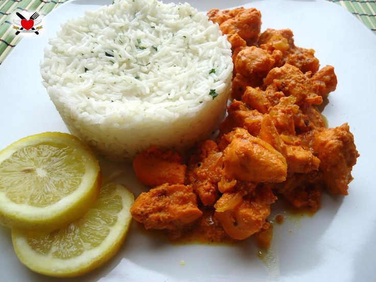 Korma+di+pollo+con+riso+basmati+-+ricetta+indiana