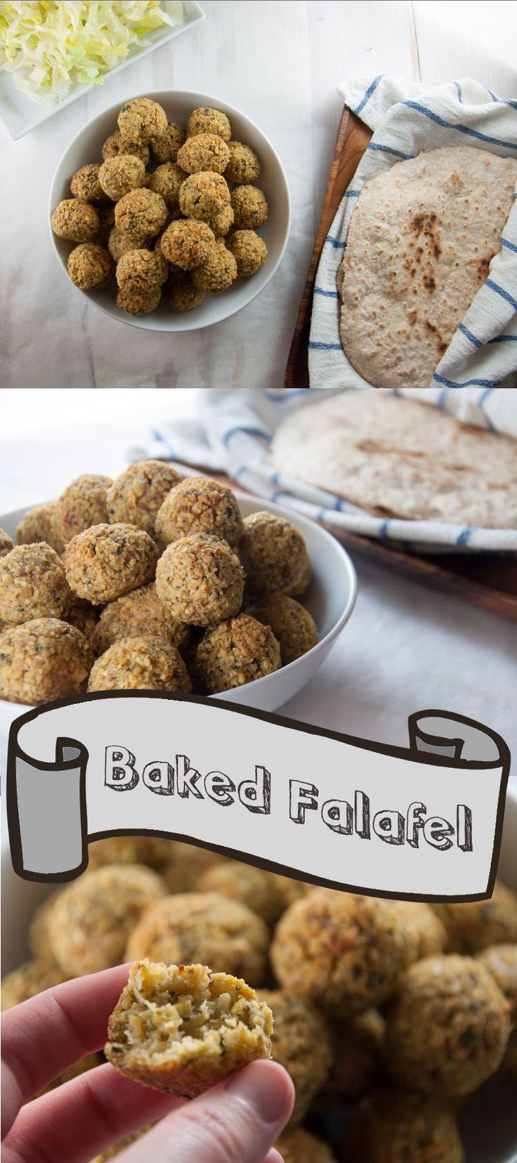 Huge Batch of Oven-Baked Falafel | ElephantasticVegan.com