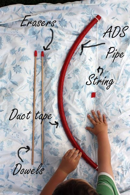 still parenting: HOMEMADE HULA HOOPS AND BOWS + ARROWS
