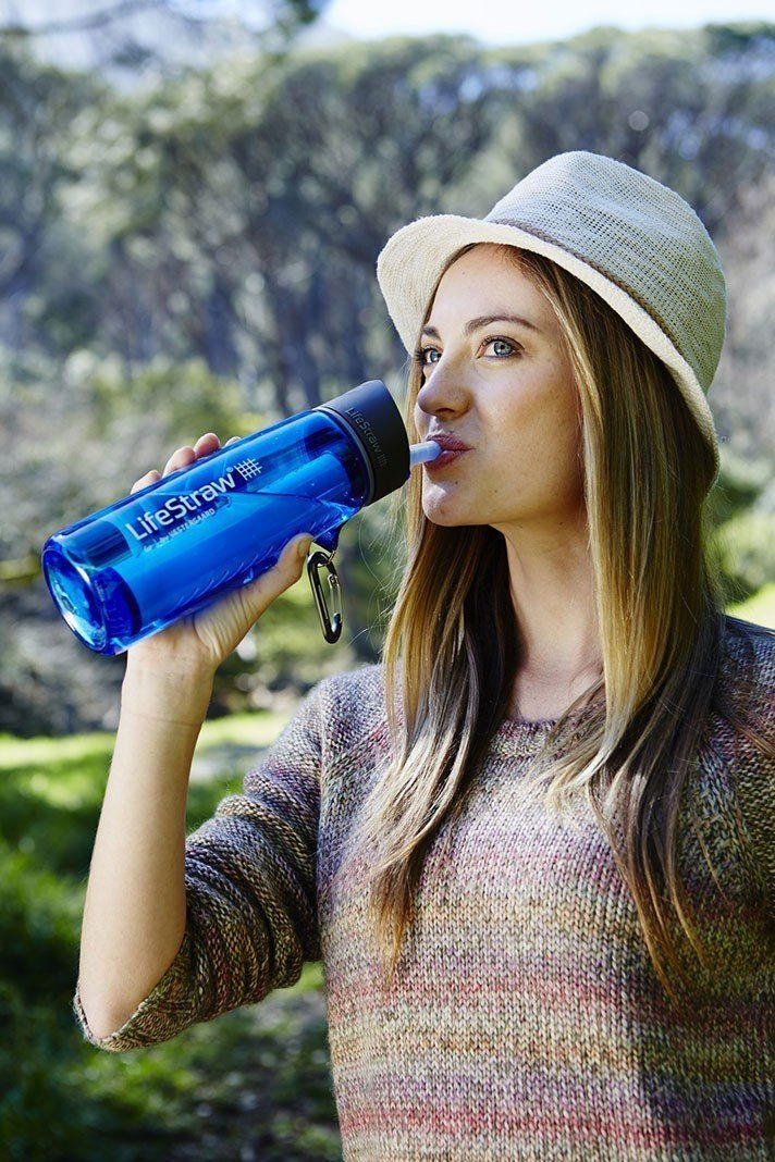 LifeStraw Go Water Bottle With Filter - perfect for travel or camping and hiking, now you can drink water from streams and lakes with this water bottle with built in bacteria filter