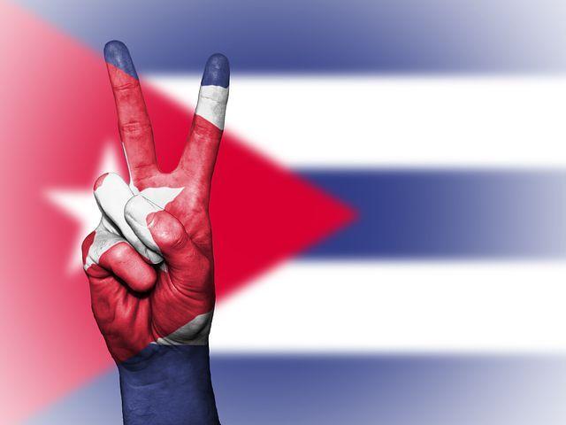 Cuba, Paz, Mão, Nação, Fundo