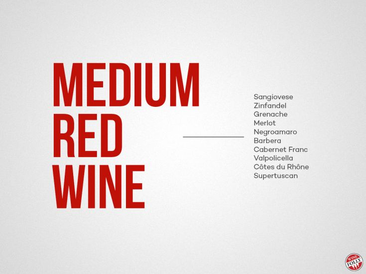 medium bodied red wine styles