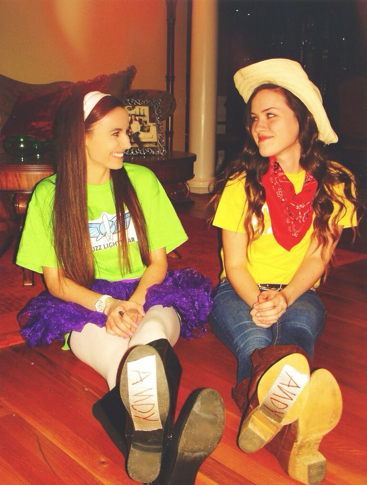Best friend costume ideas: Buzz and Woody :-)