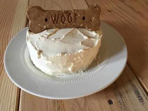 Celebrate Your Dog's Birthday with These Easy-Peasy Dog Cake dog birthday cake - Birthdays Dog Cake Recipe Pumpkin, Easy Dog Cake Recipe, Dog Cake Recipes, Dog Treat Recipes, Dog Food Recipes, Funny Birthday Cakes, Homemade Birthday Cakes, Dog Birthday, Homemade Cakes