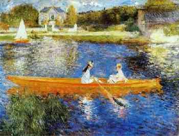 Banks of the Seine at Asnieres--Pierre Auguste Renoir
