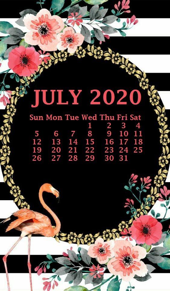 iPhone July 2020 Calendar Wallpaper Free printable