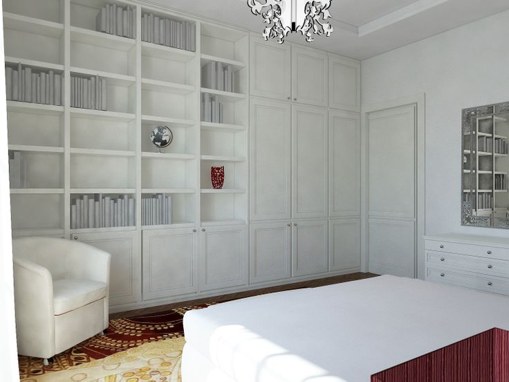 master bedroom level +1, the wardrobe hides a secret door leading into the bathroom  - Massimo Rinaldo architetto