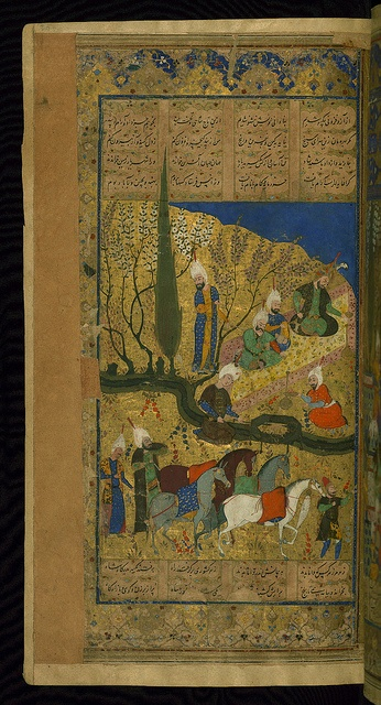 This is an illuminated and illustrated Safavid copy of the Book of kings (Shāhnāmah) by Firdawsī (d. 411 or 416 AH / 1020-5 CE), dating to the tenth century AH / sixteenth CE.