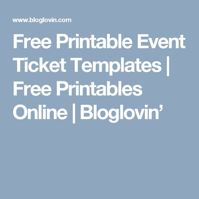 Best 25+ Ticket template free ideas on Pinterest Ticket template - printable ticket template free