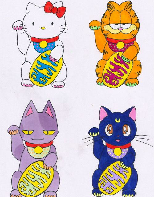 HK, Garfield, Animal Crossing(?), and Luna.