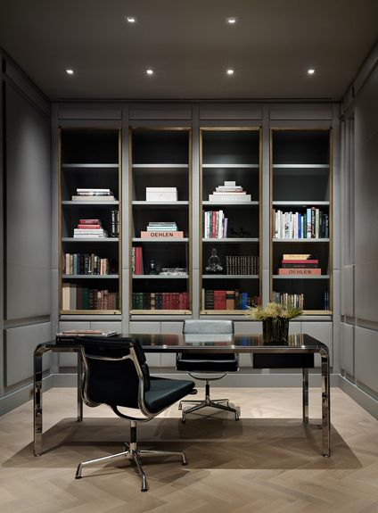 Kallosturin Nyc Apt Library Office Design Pinterest
