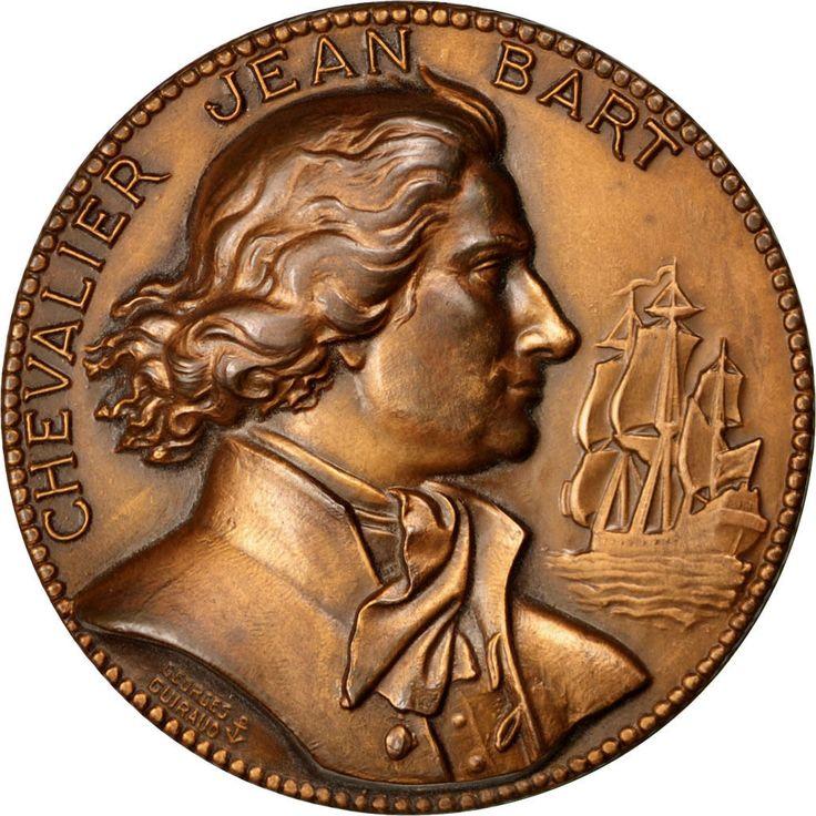 Chevalier Jean Bart Médaille Navire DE Ligne Jean Bart