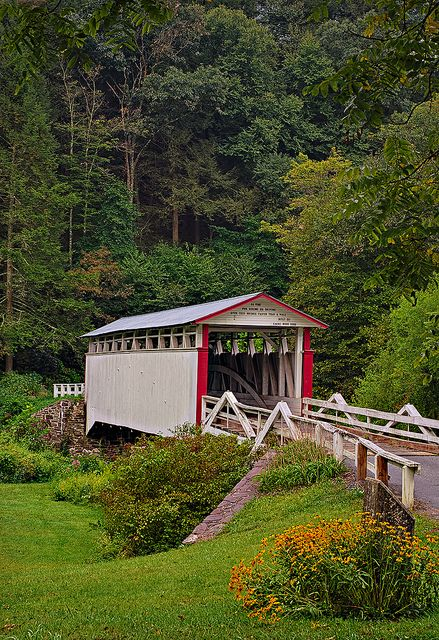 Jackson Mill covered bridge, Bedford county, PENNSYLVANIA.