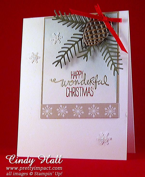 Pretty Pines with Wonderous Wreath sentiment for FMS267