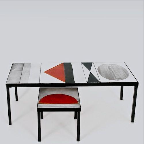 Roger Capron - Set of Glazed Lava Coffee Tables, circa 1960 www.galerieriviera.com