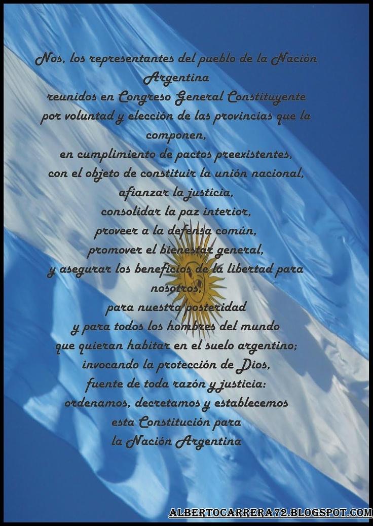 Preámbulo de la Constitución Argentina, para tenerlo siempre en cuenta ...