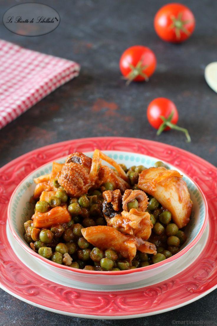 Le seppie con piselli in umido un secondo piatto della for Piatto della cucina povera