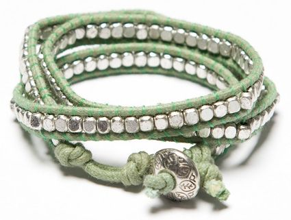 Brightly wound bracelent, mint from noondaycollection.com