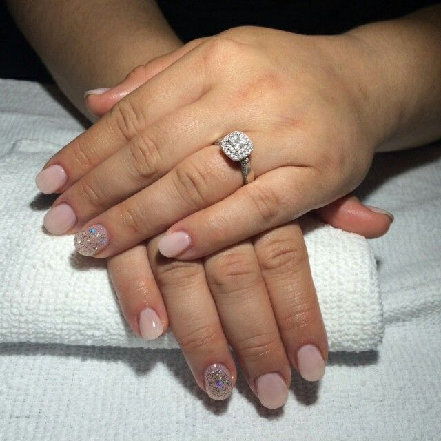 Pretty in Pink engagement manicure by Red Hat Nails. Ready for photos!