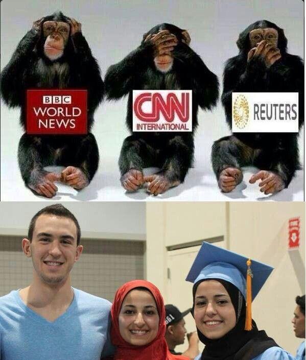 تعامل شبكات الانباء مع مقتل الطلبة المسلمين في أمريكا.     How news network respond to Muslims students murder.