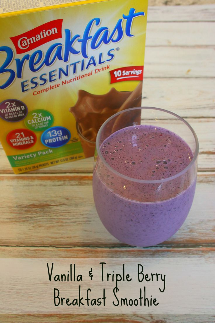 It's a Lovely Life! | Vanilla and Triple Berry Breakfast Smoothie with Carnation Breakfast Essentials
