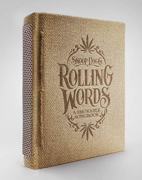 Rolling Words, un livre qui se fume … littéralement!