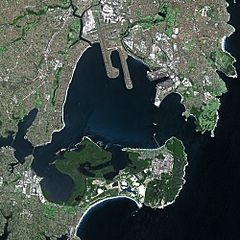 Sky View Map of Botany Bay