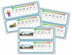 Support pour lettres mobiles: T'Choupi
