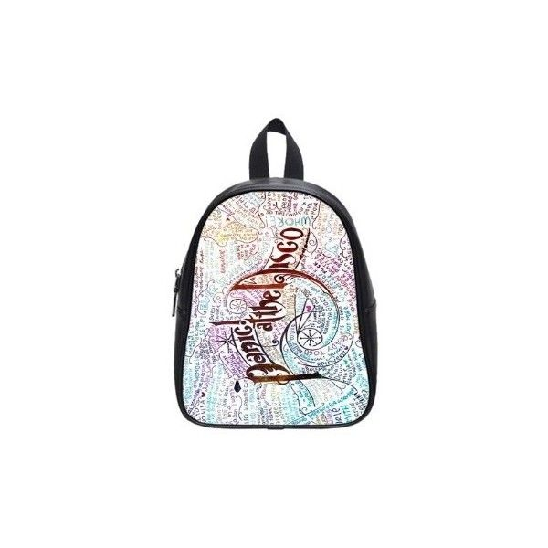 Panic At The Disco New Backpacks Bag Custom Black School Bag (Large)... ❤ liked on Polyvore featuring bags, backpacks, black bag, black backpack, black rucksack, black knapsack and backpacks bags