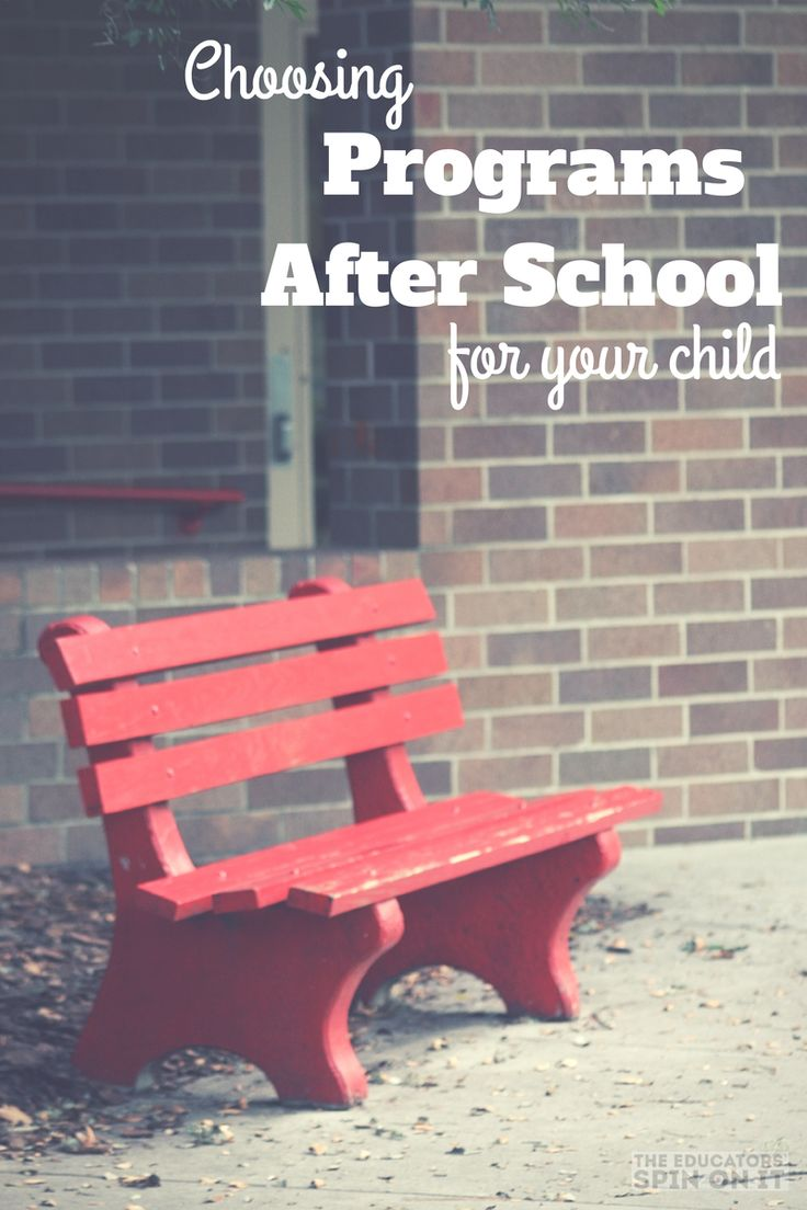 Tips for Choosing a Program After School for your Child from the Educators' Spin On It