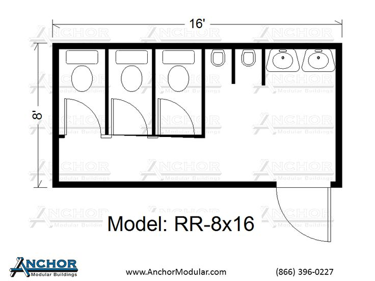Modular building floor plans modular restroom and for Bathroom sample layouts